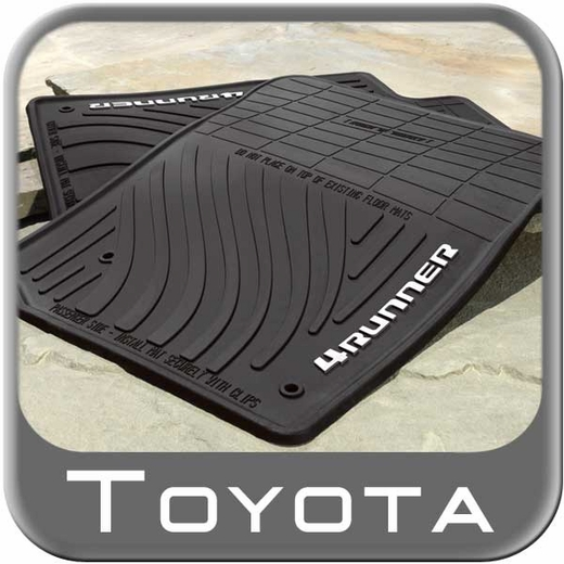 2013-2016 Toyota 4Runner Rubber Floor Mats All-Weather Black 4-Piece Set Genuine Toyota #PT908-89130-20