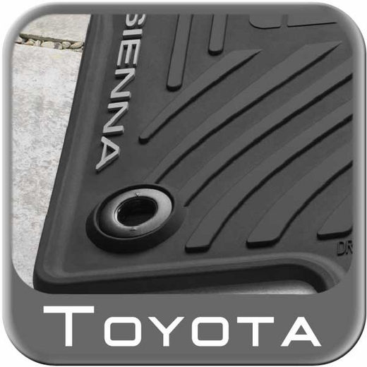 2013 2015 Toyota Sienna Rubber Floor Mats All Weather Black