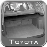 2013 Toyota RAV4 Cargo Cover Retractable Rear Cargo Cover Black Vinyl w/Metal Rollup Casing