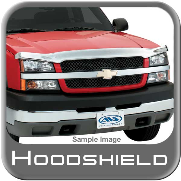 2014 Chevy Suburban Bug Deflector Hood Shield Wrap Style Chrome