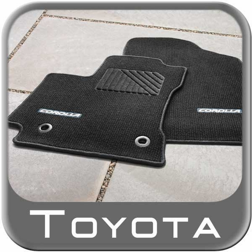 2014 2015 Toyota Corolla Carpeted Floor Mats Black W Blue
