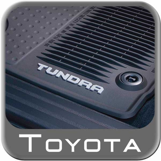 2014 2015 Toyota Tundra Rubber Floor Mats All Weather Black