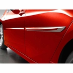 2016 (2016-2017) Toyota Prius Body Side Moldings Classic Silver Metallic (color code 1F7) Set of 4 Genuine Toyota #PT938-47160-01