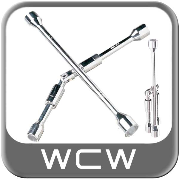 "4-Way Folding Lug Wrench Tire Iron Fits 17mm, 19mm(3/4""), 21mm(13/16"") & 23mm(7/8"") 14"" x 13.5"" Length"