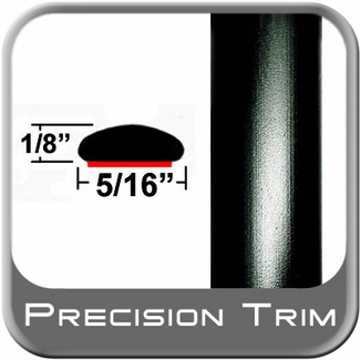 "5/16"" Wide Wheel Molding Trim Black Sold by the Foot Precision Trim® #24200-60-01"