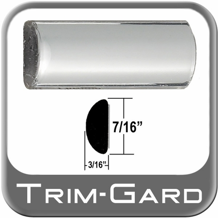 """7/16"""" Wide Wheel Molding Trim Chrome Sold by the Foot Trim Gard® #0301-01"""