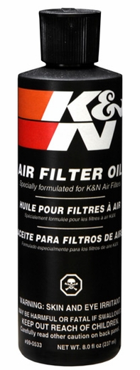 Air Filter Oil - 8oz Squeeze Sold Individually K&N #99-0533