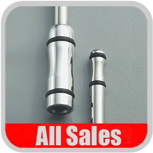 """All Sales Car Radio Antenna 15"""" Polished Stainless Steel w/Black O-rings #AMIC-7215R"""
