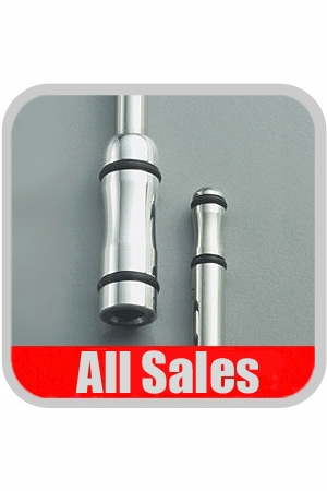 """All Sales Car Radio Antenna 15"""" Polished Stainless Steel w/Black O-rings #7215R"""