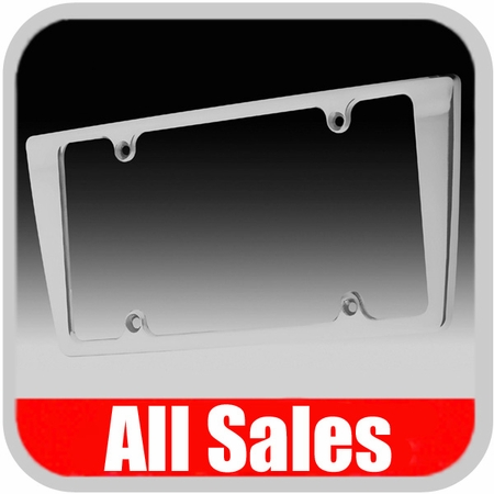 all sales license plate frame smooth style frame brushed aluminum 84003