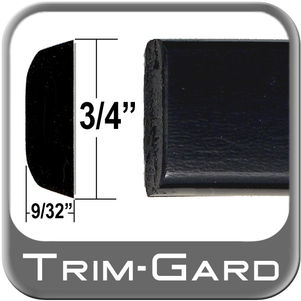 """3/4"""" Wide Body Side Molding Black Textured Finish Sold by the Foot Trim Gard® #PC02-01"""