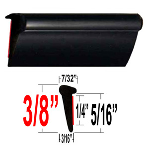 Lip Style Car Door Guards Black Sold by the Foot Cowles® #39-651-01