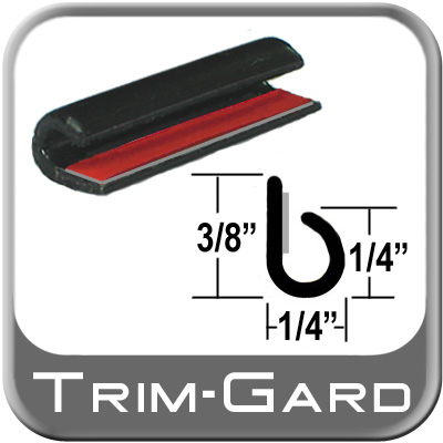 "Trim Gard® Black Door Edge Guard ""J"" Style #NC02-01"