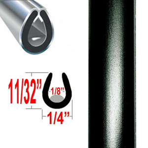 """U"" Style Door Edge Guard Black Sold by the Foot Trim Gard® #22-01"
