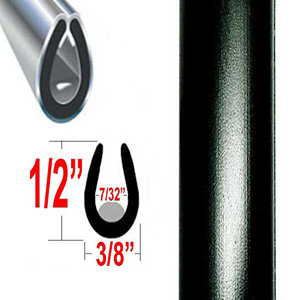 """U"" Style Door Edge Guard Black Sold by the Foot Trim Gard® #22L-01"