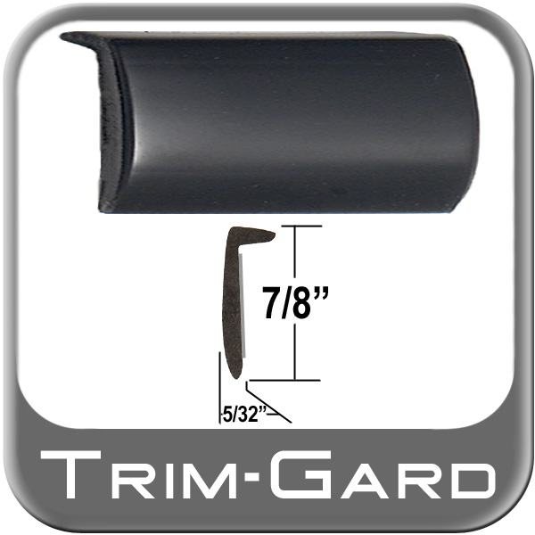 """L"" Style Door Edge/Lip Trim Black Sold by the Foot Trim Gard® #RRT02-01"