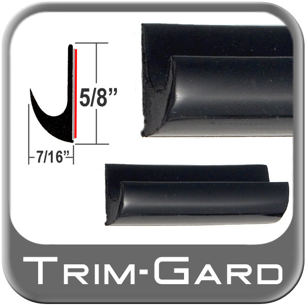 "5/8"" Tall Drip Rail Molding Black Sold by the Foot Trim Gard® #DR02-01"