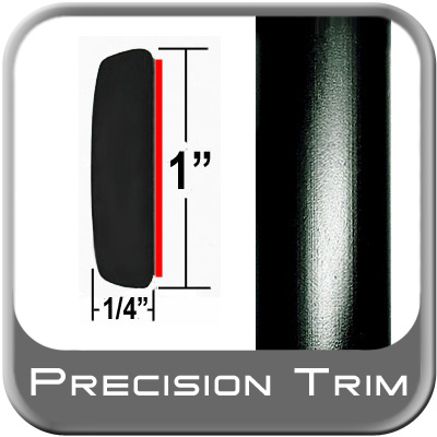 "1"" Wide Molding Trim Black Sold by the Foot Precision Trim® #11100-60-01"