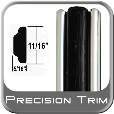 "11/16"" Wide Molding Trim Black Sold by the Foot Precision Trim® #3100-60-01"