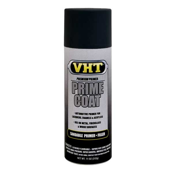 Black Prime Coat® Sandable Primer Filler 11 ounce Spray On VHT #SP305