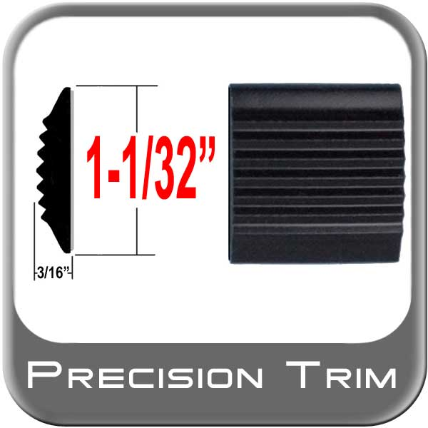 "1-1/32"" Wide Tread Molding Black Sold by the Foot Cowles® #38-100-01"