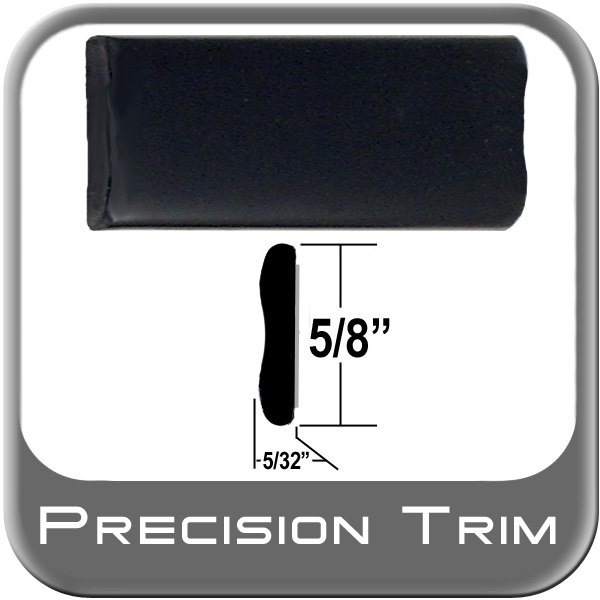 "5/8"" Wide Wheel Molding Trim Black Sold by the Foot Precision Trim® #15150-01"