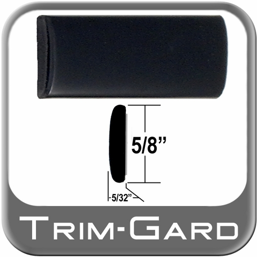 "5/8"" Wide Wheel Molding Trim Black Sold by the Foot Trim Gard® #902-01"