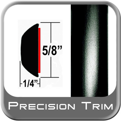 "5/8"" Wide Wheel Molding Trim Black Sold by the Foot Precision Trim® #37130-60-01"