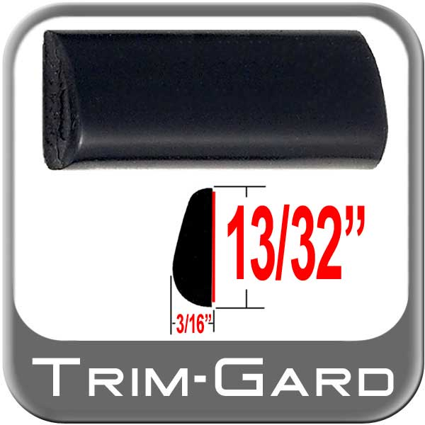 "Black Wheel Molding Trim 13/32"" Wide Wheel Trim Tear Drop Style"