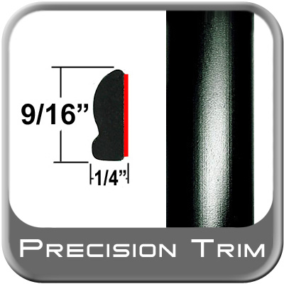 "9/16"" Wide Wheel Molding Trim Black Sold by the Foot Precision Trim® #9150-60-01"