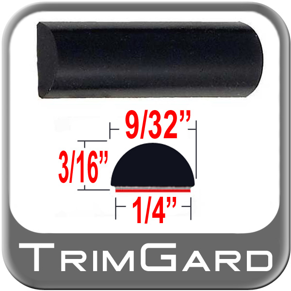 "9/32"" Wide Wheel Molding Trim Black Sold by the Foot Trim Gard® #M302-01"