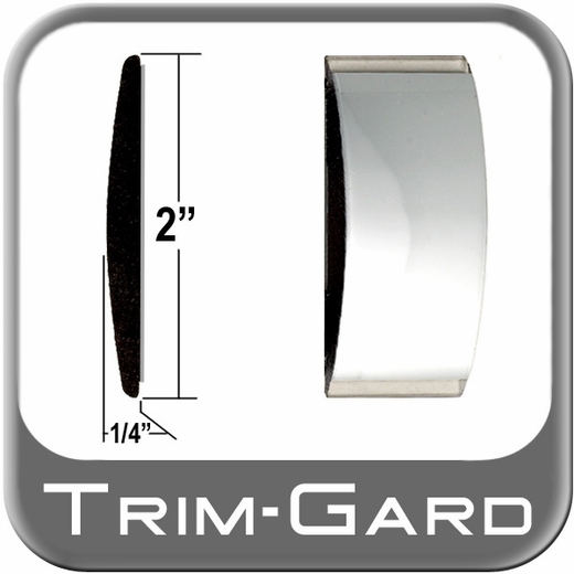 "2"" Wide Body Side Molding Chrome Sold by the Foot Trim Gard® #99GT-01-01"