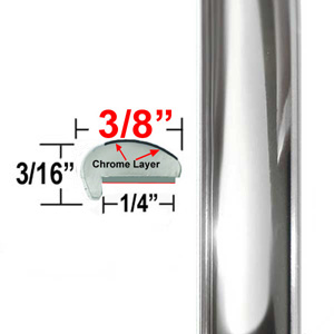 """L"" Style Car Door Guards Chrome Sold by the Foot Precision Trim® #1180C-01"