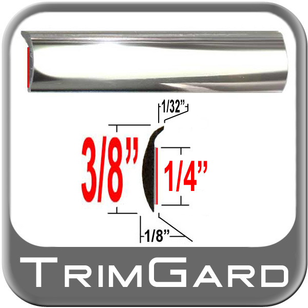 """""""L"""" Style Door Edge Guard Chrome Sold by the Foot Trim Gard® #PTC01-01"""