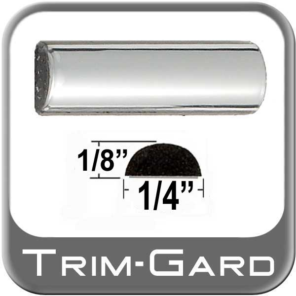 "1/4"" Wide Wheel Molding Trim Chrome Sold by the Foot Trim Gard® #M301-01"