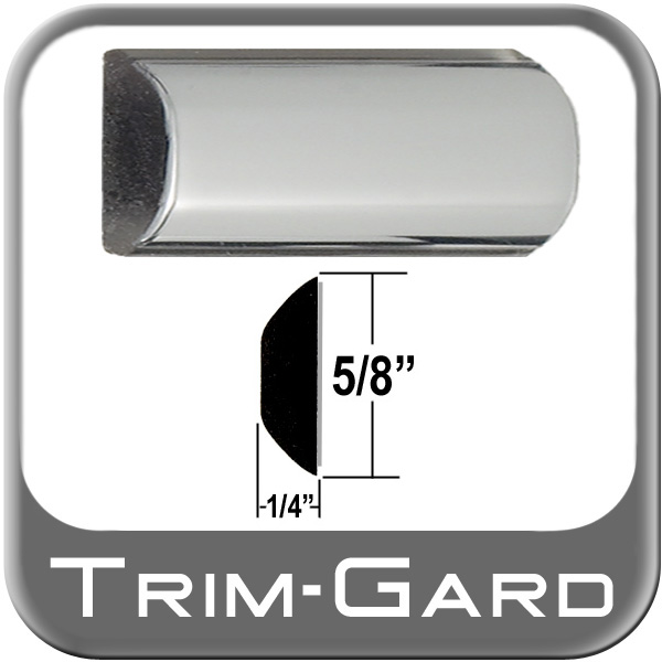 "5/8"" Wide Wheel Molding Trim Chrome Sold by the Foot Trim Gard® #N91-01"