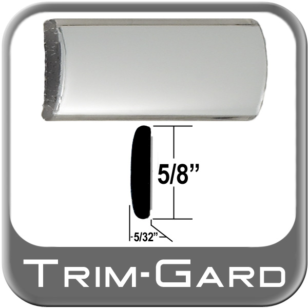 "5/8"" Wide Wheel Molding Trim Chrome Sold by the Foot Trim Gard® #901-01"