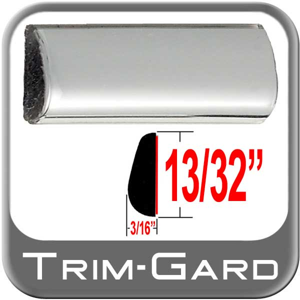 "13/32"" Wide Wheel Molding Chrome Sold by the Foot Trim Gard® #301-01"