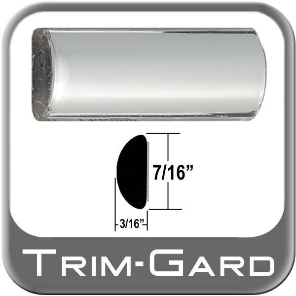 "7/16"" Wide Wheel Molding Trim Chrome Sold by the Foot Trim Gard® #0301-01"