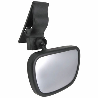 CIPA Baby Rear View Mirror Dual View Baby Mirror Black Frame Clip-on or Stick-on Sold Individually #49606