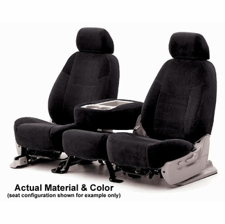 CoverKing CSCV1 Tailored Seatcovers Black Color Velour