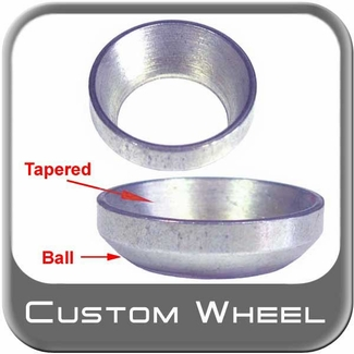 Custom Wheel Accessories ® Silver Lug Nut Washer Tapered/Ball Adapter Round Sold Individually #6016