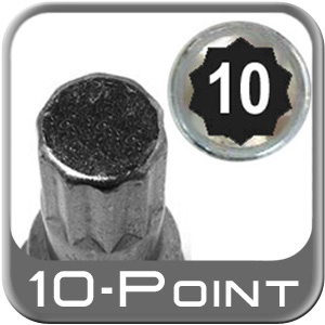 Custom Wheel Accessories ® Lug Nut Key Large 10-Point (Male) Sold Individually #6664-10
