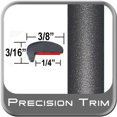 """""""L"""" Style Car Door Guards Gray (Dark) (Trim49) Sold by the Foot Precision Trim® #1180-49-01"""