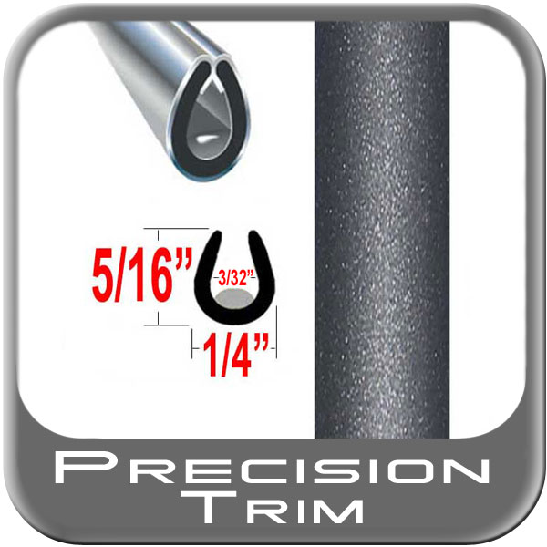 """U"" Style Car Door Guards Gray (Dark) (Trim84) Sold by the Foot Precision Trim® #1150-84-01"