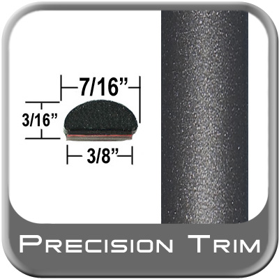 "7/16"" Wide Fender Trim Gray (Dark) (Trim49) Sold by the Foot Precision Trim® #2150-49-01"