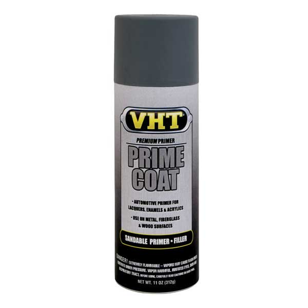 Dark Gray Prime Coat® Sandable Primer Filler 11 ounce Spray On VHT #SP302