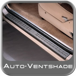 Door Sill Protectors Stepshield Black Cut to Fit 2 Piece Set Auto Ventshade AVS #88407