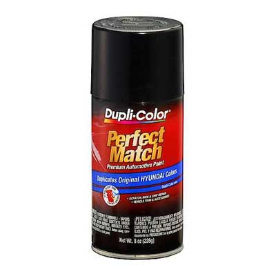 Ebony Black EB Perfect Match® Touch-Up Spray Paint 8 ounce Spray On DupliColor #BHY1803