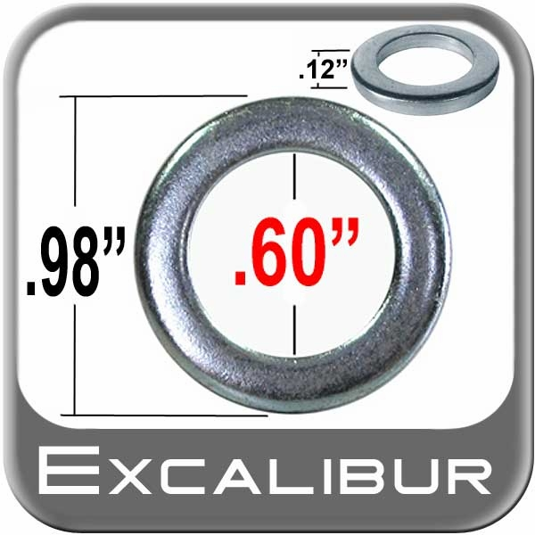 <center>Lug Nut Washer<br><small><font color=�#0033FF�<i> Small Cragar Style <br> Excalibur Brand </i></font></small></center>